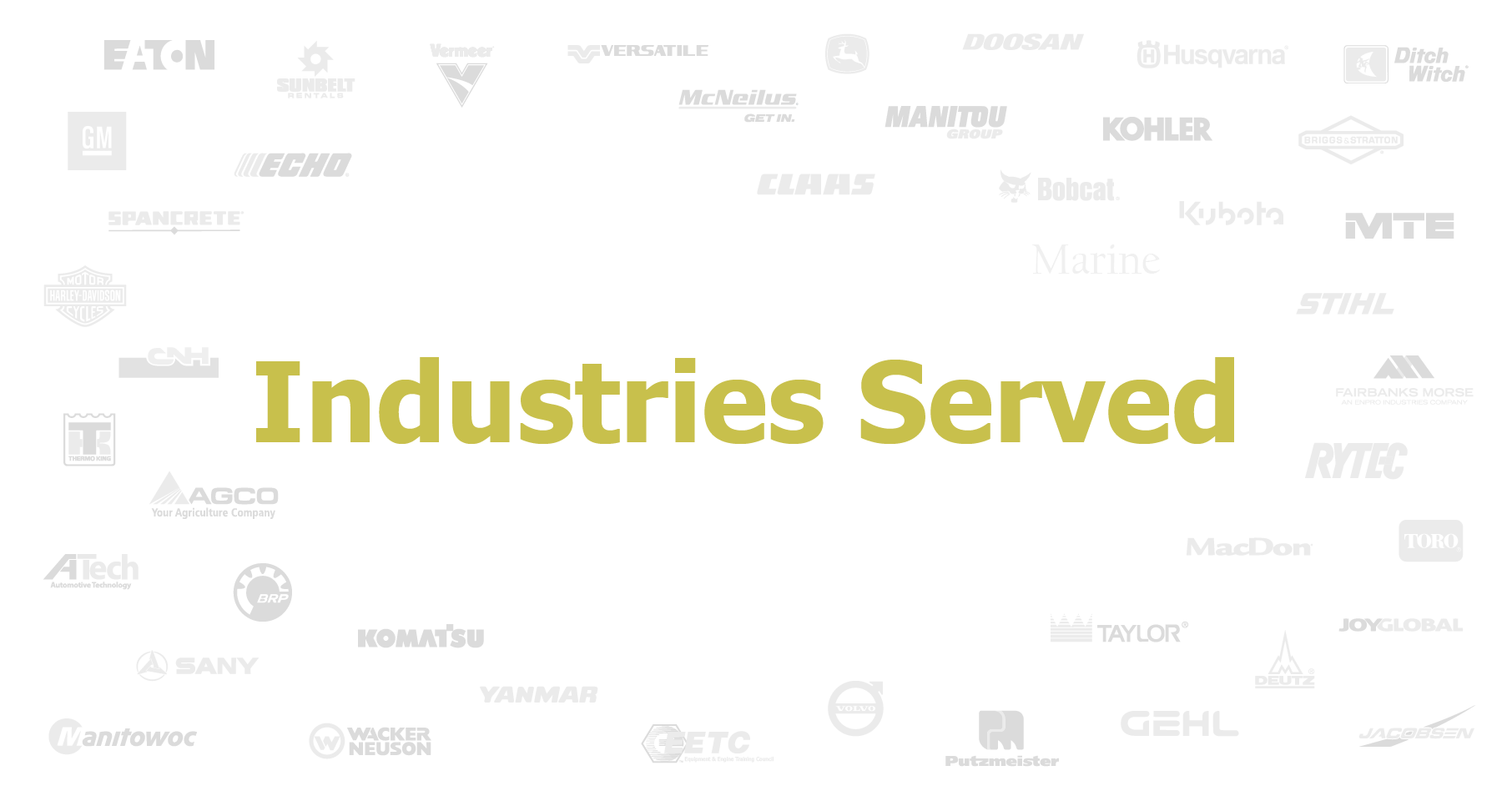 Industries served 2018