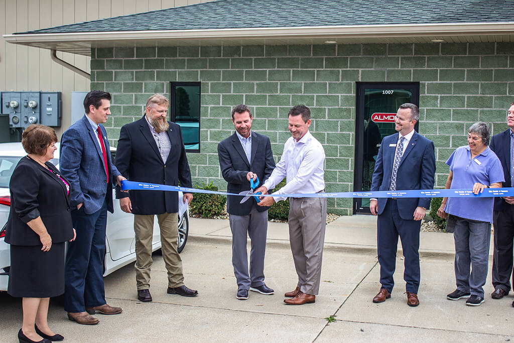 almon-milan ribbon cutting ceremony